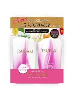 Bộ dầu gội đầu Shiseido Tsubaki tím giúp mềm mượt và giữ màu cho tóc nhuộm (bộ 2)