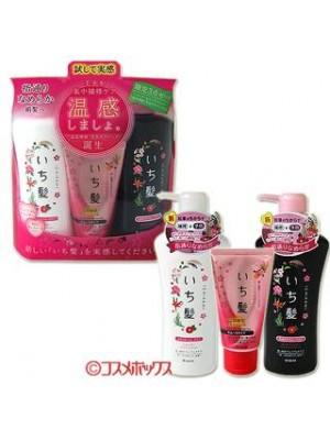 Bộ 3 dầu gội ichikami thảo dược của Nhật chống rụng tóc và làm dày tóc