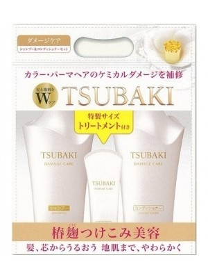 Bộ 3 dầu gội Shiseido Tsubaki trắng phục hồi tóc khô, hư tổn ( mẫu mới 2015)