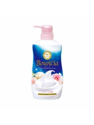 Sữa Tắm Dưỡng Trắng Chiết Xuất Từ Sữa Bò Bouncia Nhật Bản 500ml (Hương hoa hồng)