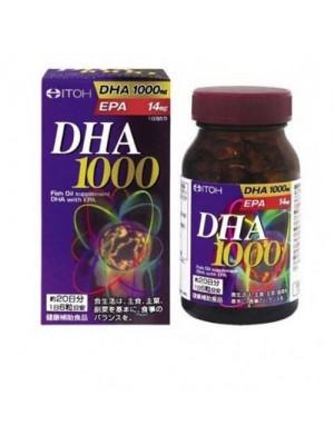 Viên uống bổ não DHA 1000mg nhật bản DHA&EPA 14mg ITOH 120 viên