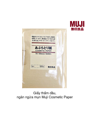 Giấy thấm dầu, ngăn ngừa mụn Muji Cosmetic Paper