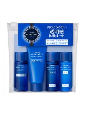 Bộ sản phẩm dưỡng mini Shiseido Aqualabel màu xanh dành cho da dầu