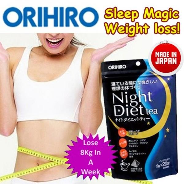 Kết quả hình ảnh cho Trà giảm cân Orihiro Night Diet 20 gói