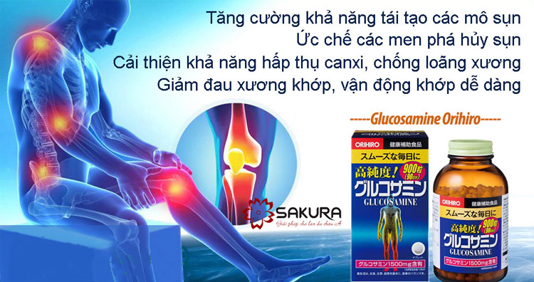 Thuốc bổ khớp Glucosamine Orihiro được mọi người tin dùng.