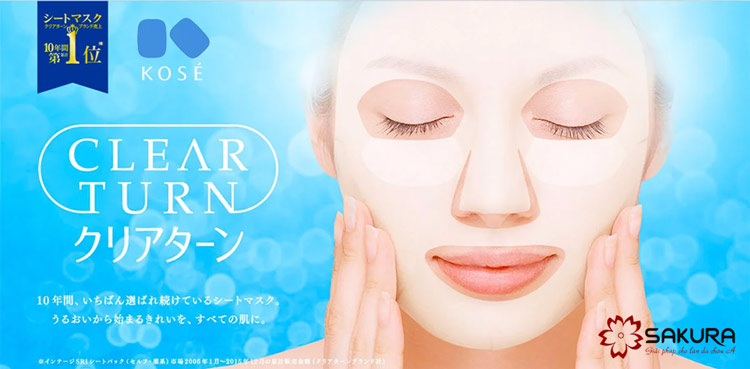 Mặt nạ Collagen Kose Clear Turn hộp 30 miếng