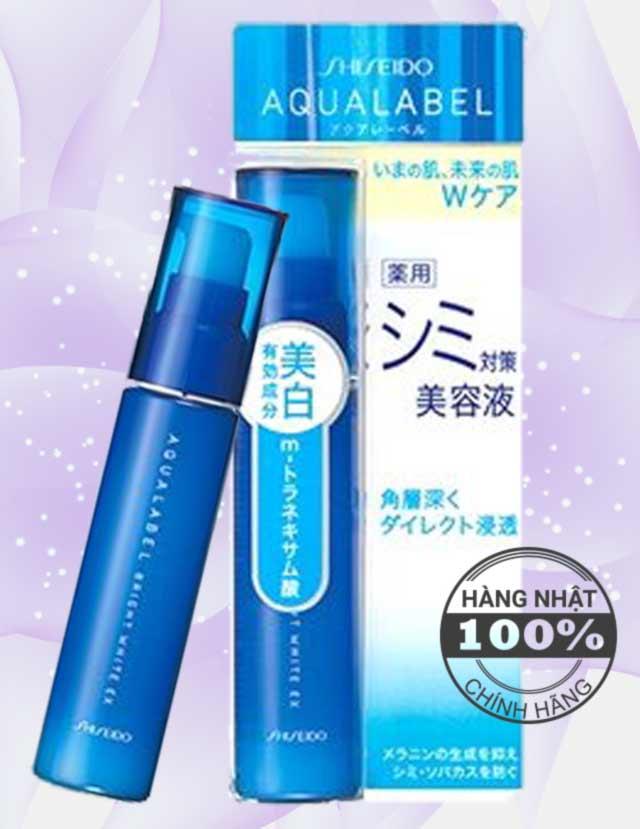 Serum trắng da trị nám Shiseido Aqualabel Bright White EX, bí quyết của làn da tươi trẻ.