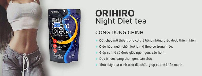Trà giảm cân Orihiro Night Diet Tea giải pháp chống béo phì cho người bận rộn
